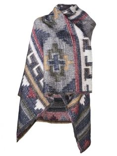 Alpaca Blend Printed Poncho by The Textile Rebels