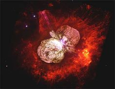Fenômeno Astrofísico: estrela Eta Carinae está prestes a se apagar