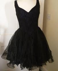 I love this cute black vintage dress!