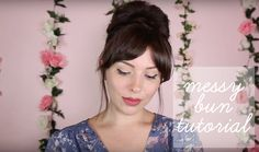 Messy Bun Tutorial Video: How to style your hair in a messy bun