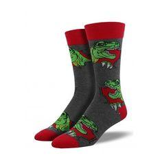 104867bed6ce Men's Tyrant Rex Crew Knit Socks, Knitting Socks, Funky Fashion, Mens  Fashion,