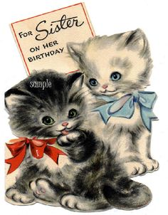 Vintage Birthday Card for a special sister by Cutecardsforu, £3.00