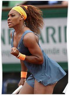'Serena Williams' Poster by Srdjan Petrovic Serena Williams Body, Serena Williams Photos, Serena Williams Tennis, Beautiful Black Women, Amazing Women, Tennis Tips, Golf Tips, Tennis Clothes, Shoes Tennis