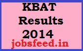 KBAT Results 2014 Download Karnataka BAT Cutoff Marks Available Now