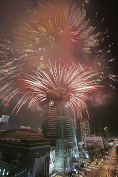 New Year fireworks in Taipei, Taiwan