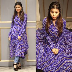 Being quirky kalki fashion with sienna the quirky kudi Saree Blouse Neck Designs, Dress Neck Designs, New Designer Dresses, Indian Designer Outfits, Pakistani Dresses Online, Indian Dresses, Bandhini Dress, New Dress Pattern, Kurta Designs Women