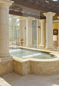 What a bath & shower combination design!