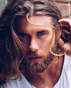 Image about brock o'hurn in Personajes by 한 동 일 Brock Ohurn, Hair And Beard Styles, Long Hair Styles, Afro Twist Braid, Beard Lover, Beard Man, Andrew Christian, Fade Haircut, Good Looking Men