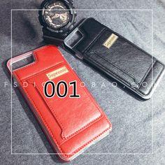 iphone7plusケース本革ストリートファッションブランドsupremeアイフォン6s革製カード収納スタンド機能保護カバー耐衝撃