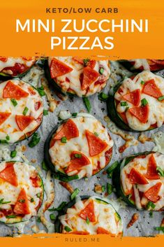 I absolutely love making mini versions of some of my favorite dishes! From mini chicken to pot pies to mini donuts, these mini zucchini pizzas fit right in and taste so good! These are a great snack to curb your hunger before dinnertime! They make a great appetizer too. #ketoappetizers #zucchinipizza #ketosnacks Quick Snacks, Keto Snacks, Zucchini Pizzas, Carbs Protein, Football Snacks, Keto Side Dishes, Mini Donuts, Pot Pies, Great Appetizers
