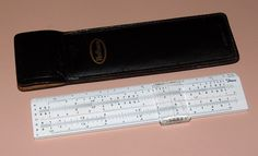 Vintage Diwa Slide Rule, Made In Denmark, Imprinted Hoffman Electronics Corporation Slide Rule, Drawing Tools, Vintage, Instruments, Objects, Technology, Diy, Collection, Tech