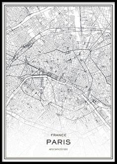 poster paris karta Lyon Affiche dans le groupe Affiches / Cartes et villes chez  poster paris karta