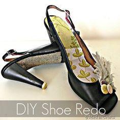 Walking on Glitter Shoes tutorial