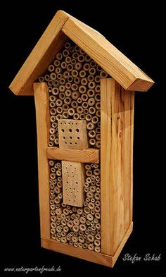 Insektenhotel Insektennisthilfe Nisthilfe Schilf Bambus insect hotel wild bees insect nesting aid bug house