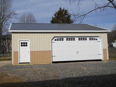 """Dimensions: 30' W x 32' L x 10' 5"""" H (ID#: 464) 30' Standard Trusses, 4' on Center, 4/12 Pitch, More Details! http://pioneerpolebuildings.com/portfolio/project/30-w-x-32-l-x-10-5-h-id-464-total-cost-contact-us"""