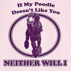 If My Poodle Doesn't Like You... Funny Novelty T by RogueAttire, $18.99 #poodlefunny