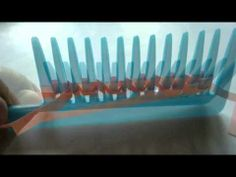 Quilling a sprig of Leaves with a comb - 2 - YouTube