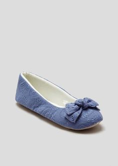 f704a30975 Broiderie Anglaise Ballet Slippers – Matalan