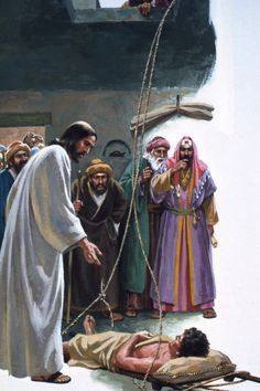 When Jesus Taught In Capernaum Some Men Wanted Him To Heal Their Paralytic Friend Being Crowded They Climbed On The Roof And Lowered Friends Bed