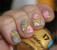 I am showcasing easy Easter theme egg nail art designs & ideas of I hope you would love the collection. Make cute and colorful eggs on nails to give Easter glimpses on that day. Painted Nail Art, Acrylic Nail Art, Glitter Nail Art, Gel Nail Art, Diy Easter Nails, The Art Of Nails, Bunny Nails, Get Nails, Holiday Nails