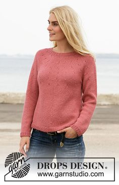 Did you know there are over 200 DROPS catalogues filled with thousands of free knitting patterns and crochet patterns for the whole family? Dishcloth Knitting Patterns, Sweater Knitting Patterns, Drops Design, Summer Knitting, Free Knitting, Bag Patterns To Sew, Knit Patterns, Pull Poncho, Cardigans For Women