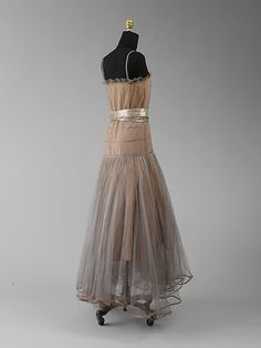 vintage dress (robe de style), collection @ the met | house of lanvin (french, 1931)