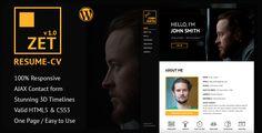 ZET - One Page Resume/Personal Portfolio WordPress Theme