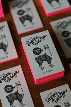 Shyama Letterpress Card; @Emily Brett I know it's not an alpaca but I figured I should tag you anyways haha
