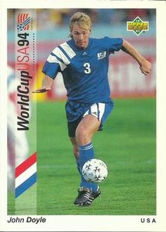 1993 Upper Deck World Cup Preview English/Spanish #3 John Doyle | Trading Card Database