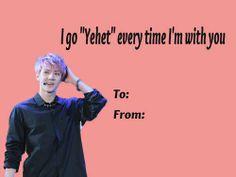 funny valentine kpop e-card <3 SEHUN