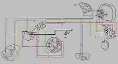 1981 Vespa P200E VSX1T Electrical Wiring Vespa p200e