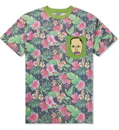 Floral prints have been in style for a long time, especially for board shorts and Hawaiian shirts. Recently floral prints are increasingly popular in both men's and women's fashion. Odd Future came out with this Green Earl Pocket T-shirt. Earl Sweatshirt, a famous rapper from the group Odd Future is influencing the men's fashion with prints and tie dies. Kris F.