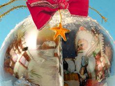 Come realizzare palline decorate di Natale - Bricoportale: Fai da te e bricolage Decoupage, Christmas Bulbs, Holiday Decor, Home Decor, Party, Bricolage, Decoration Home, Christmas Light Bulbs, Room Decor
