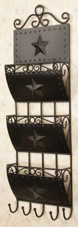 New Primitive Country Black Star Mail Holder Letter Bill Wall Rack Primitive Stars, Primitive Crafts, Country Primitive, Primitive Kitchen, Primitive Christmas, Christmas Diy, Holiday, Country Crafts, Country Decor