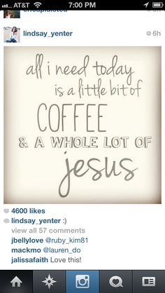 Coffee and Jesus quote