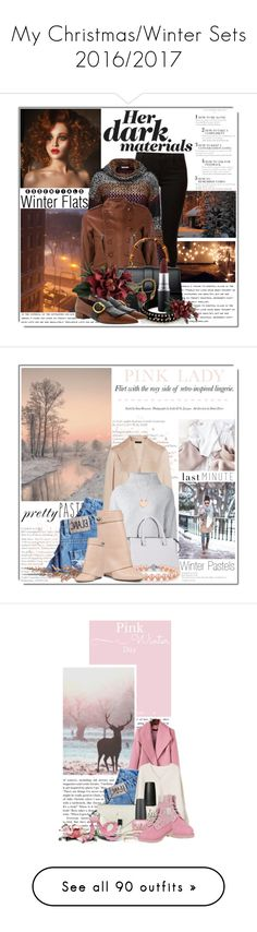 """""""My Christmas/Winter Sets 2016/2017"""" by queenrachietemplateaddict ❤ liked on Polyvore featuring Dorothy Perkins, Joe Browns, Faith Connexion, Gucci, Mark Davis, Prada, MAC Cosmetics, Winter, Sweater and leatherjacket"""