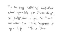 say nothing negative