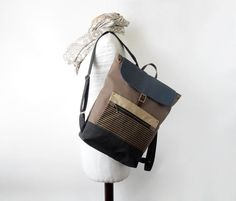 Waterproof lining available Canvas Backpack, Laptop Backpack, Stylish Backpacks, Brown Canvas, Market Bag, School Bags, Travel Bag, Fashion Backpack, Shopping Bag