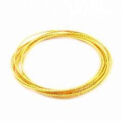 Fashion 24K Gold Plated Bangle Yellow Gold Golden Bangle Bracelet Men&Women Wedding Gift YHDB012