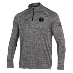 Under Armour Notre Dame Fighting Irish Gray 2014 Shamrock Series Tech 1/4-Zip Pullover