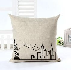 New York Skyline Cushion Cover