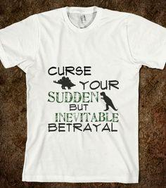 Zoko Apparel Where Betrayal is Sudden T-Shirt