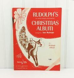 Rudolph's Christmas Album 1962 Christmas Piano by naturegirl22