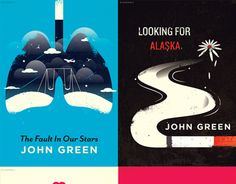 The covers are then again re-designed. They're both wonderful! Looking For Alaska has gone through many covers now. ♥