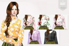 Silent Night: Serenity`s Cherry Sweater recolor • Sims 4 Downloads