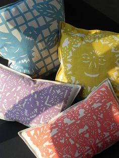 Papel Picado Pillows are a great addition to any party #designsponge  #dssummerparty