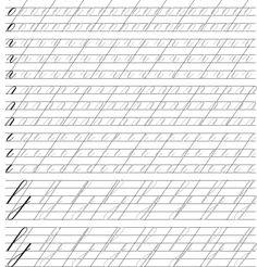 Calligraphy Worksheet, Copperplate Calligraphy, Calligraphy Handwriting, Calligraphy Alphabet, Cursive, Penmanship Practice, Handwriting Practice Sheets, Calligraphy Practice, Writing Fonts