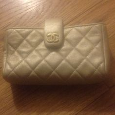 """Selling this """"Chanel iPhone 5 mobile phone wallet clutch"""" in my Poshmark closet! My username is: luxnelle. #shopmycloset #poshmark #fashion #shopping #style #forsale #CHANEL #Clutches & Wallets"""
