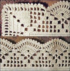 New crochet granny square pattern for boys yarns ideas Crochet Boarders, Crochet Edging Patterns, Crochet Lace Edging, Crochet Motifs, Granny Square Crochet Pattern, Crochet Squares, Thread Crochet, Crochet Granny, Filet Crochet