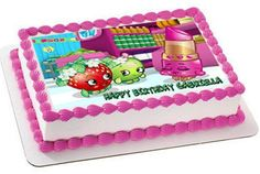 SHOPKINS Edible Birthday Cake Topper OR Cupcake Topper, Decor